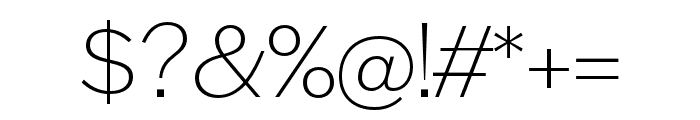 Halyard Display ExtraLight Font OTHER CHARS