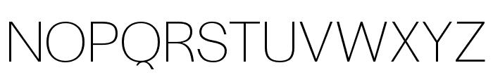 Halyard Display ExtraLight Font UPPERCASE