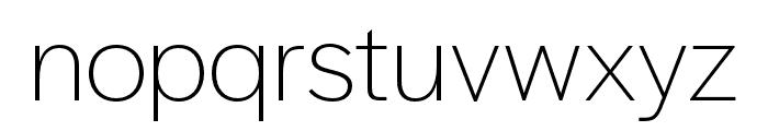 Halyard Display ExtraLight Font LOWERCASE