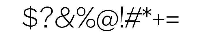 Halyard Display Light Font OTHER CHARS