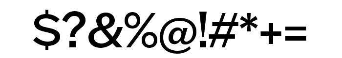 Halyard Display Regular Font OTHER CHARS