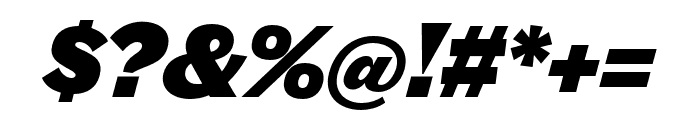 Halyard Micro Black Italic Font OTHER CHARS