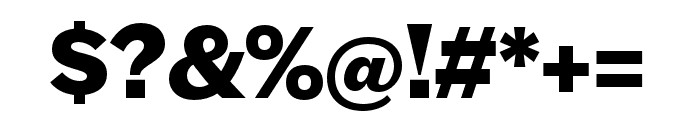 Halyard Micro Bold Font OTHER CHARS