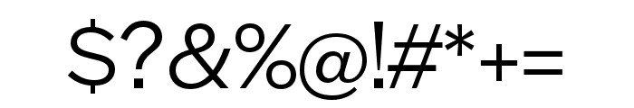 Halyard Micro Book Font OTHER CHARS
