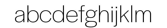 Halyard Micro ExtraLight Font LOWERCASE