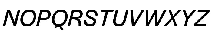 Halyard Micro Italic Font UPPERCASE