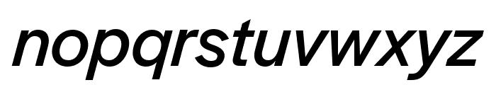 Halyard Micro Italic Font LOWERCASE