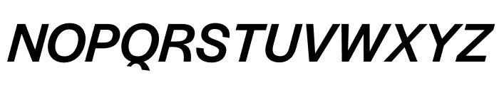 Halyard Micro Medium Italic Font UPPERCASE