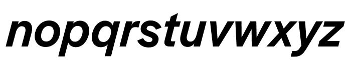 Halyard Micro Medium Italic Font LOWERCASE