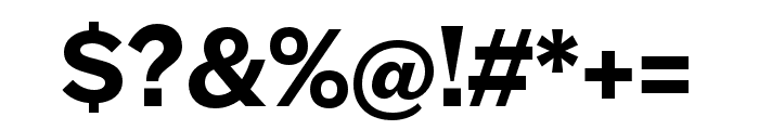 Halyard Micro SemiBold Font OTHER CHARS