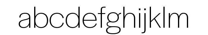 Halyard Text ExtraLight Font LOWERCASE