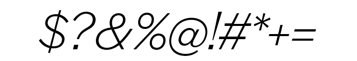 Halyard Text Light Italic Font OTHER CHARS