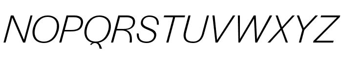 Halyard Text Light Italic Font UPPERCASE