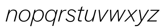 Halyard Text Light Italic Font LOWERCASE
