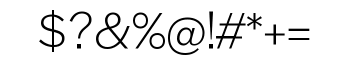 Halyard Text Light Font OTHER CHARS