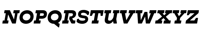 Hatch Bold Italic Font UPPERCASE