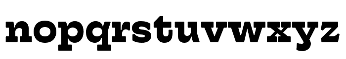 Hatch Bold Font LOWERCASE