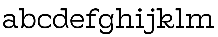 Hatch Light Font LOWERCASE