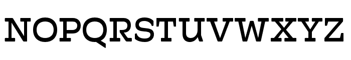 Hatch Regular Font UPPERCASE