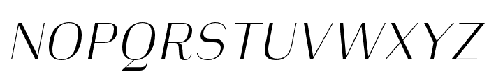 Heimat Display 10 ExtraLight Italic Font UPPERCASE