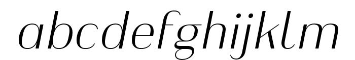 Heimat Display 10 ExtraLight Italic Font LOWERCASE