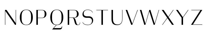Heimat Display 10 ExtraLight Font UPPERCASE