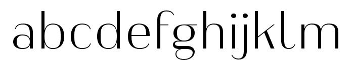 Heimat Display 10 ExtraLight Font LOWERCASE