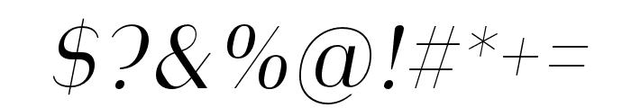 Heimat Display 10 Light Italic Font OTHER CHARS