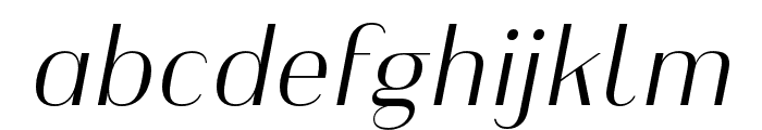 Heimat Display 10 Light Italic Font LOWERCASE