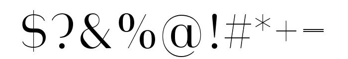 Heimat Display 10 Light Font OTHER CHARS