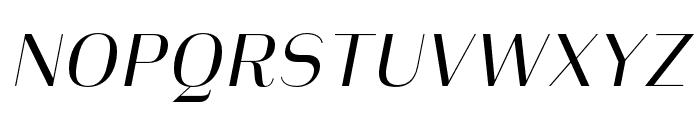 Heimat Display 10 Regular Italic Font UPPERCASE