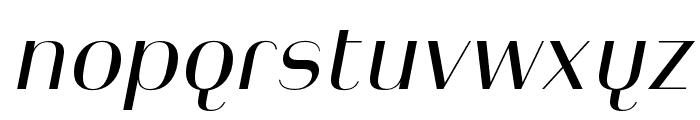 Heimat Display 10 Regular Italic Font LOWERCASE