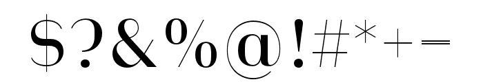 Heimat Display 10 Regular Font OTHER CHARS
