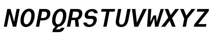 Heimat Mono Bold Italic Font UPPERCASE