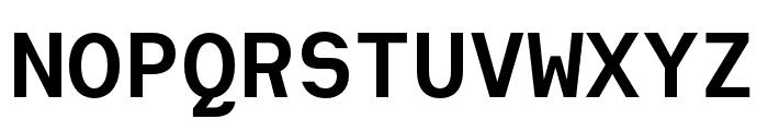 Heimat Mono Bold Font UPPERCASE
