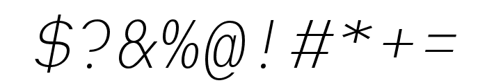 Heimat Mono ExtraLight Italic Font OTHER CHARS
