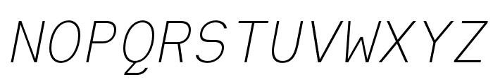 Heimat Mono ExtraLight Italic Font UPPERCASE