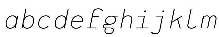 Heimat Mono ExtraLight Italic Font LOWERCASE