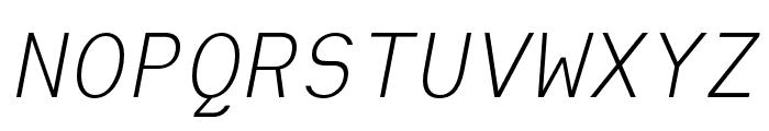 Heimat Mono Light Italic Font UPPERCASE