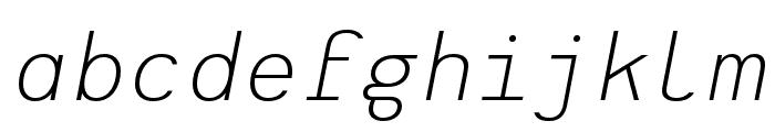 Heimat Mono Light Italic Font LOWERCASE