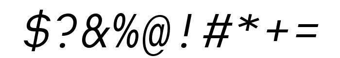 Heimat Mono Regular Italic Font OTHER CHARS