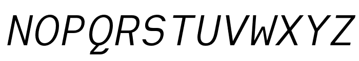 Heimat Mono Regular Italic Font UPPERCASE