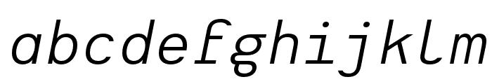 Heimat Mono Regular Italic Font LOWERCASE