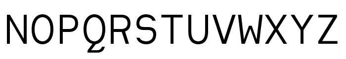 Heimat Mono Regular Font UPPERCASE