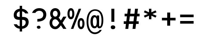Heimat Mono SemiBold Font OTHER CHARS