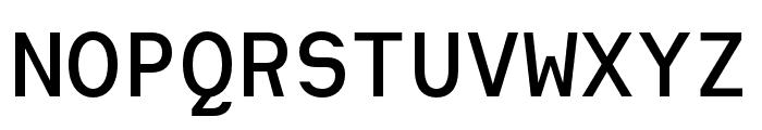 Heimat Mono SemiBold Font UPPERCASE