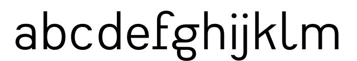 Heimat Sans Regular Font LOWERCASE
