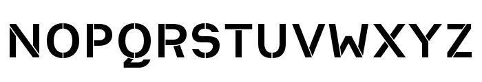 Heimat Stencil Bold Font UPPERCASE