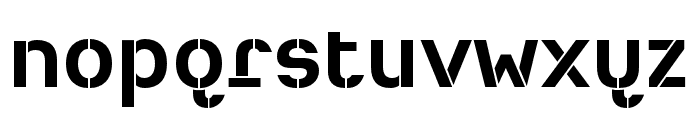 Heimat Stencil Bold Font LOWERCASE