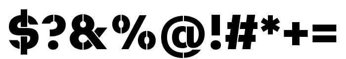 Heimat Stencil ExtraBold Font OTHER CHARS